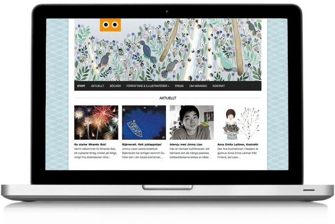 New Website For Mirando Bok